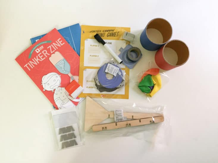 Tinker Crate from Kiwi Crate Kids Subscription Box - Air Cannon - May 2017