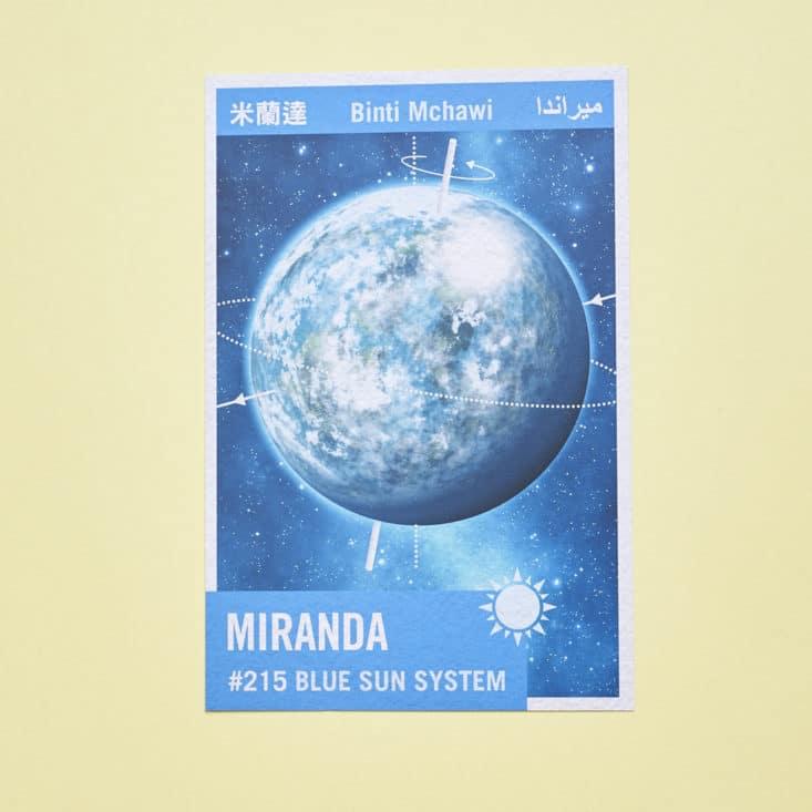 Firefly Cargo Crate - June 2017 - No Power in the 'Verse - Interplanetary Flash Card - Miranda