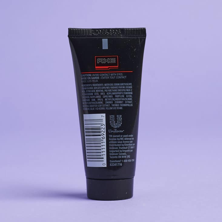 Target Beauty Box - Father's Day Edition - Axe Adrenaline Cool Charge Body Wash back