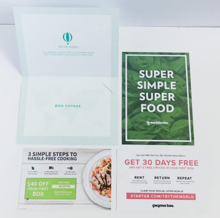 Try The World Food Subscription Box - Greece - June 2017