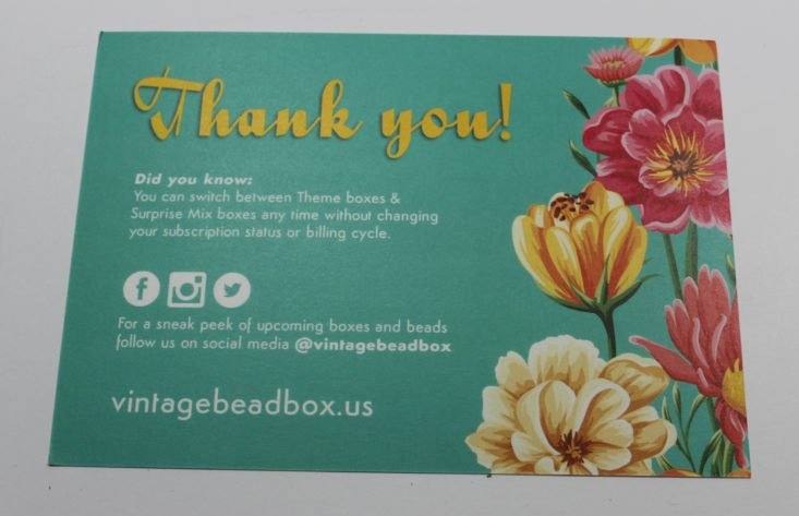 Check out my review of the July 2017 Vintage Bead Box!