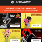 Last Day for July 2017 Loot Wear + FULL SPOILERS + 30% Off COUPON!