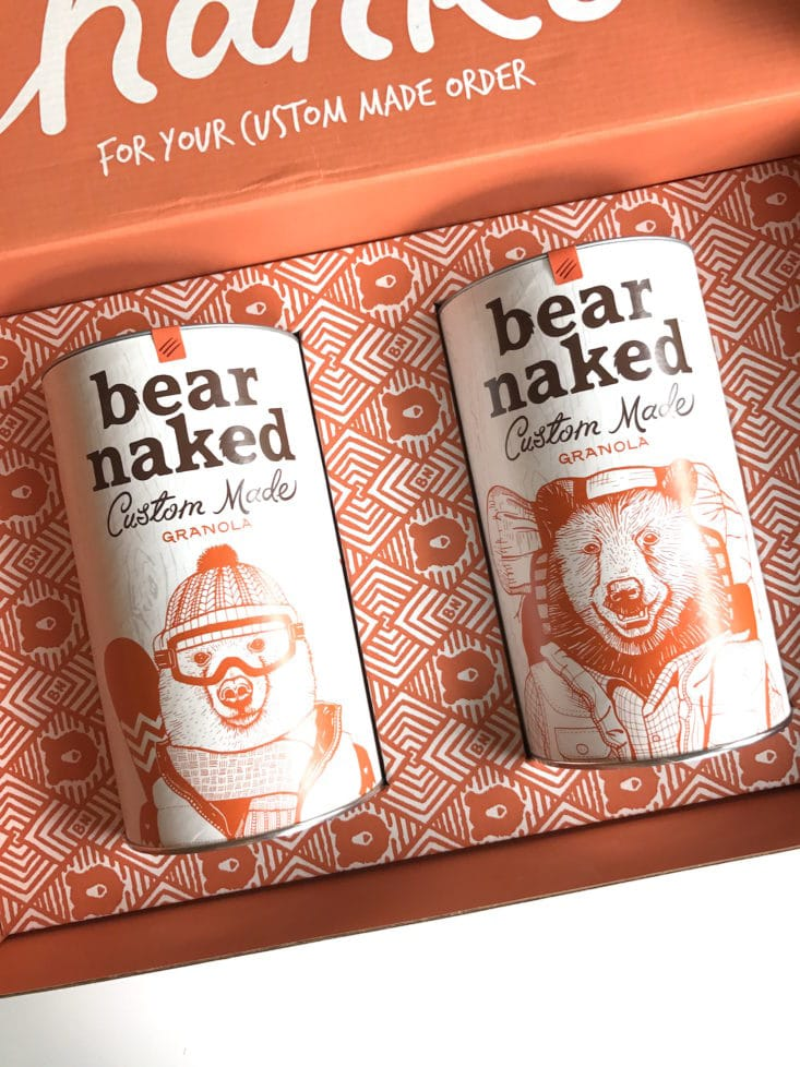 Bear Naked Custom Granola August 2017