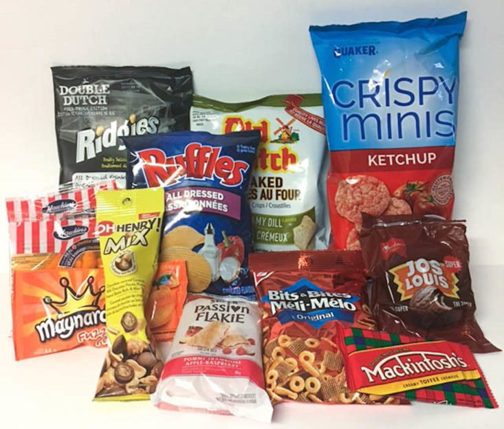 Get Canucked August 2017 Canadian Snacks Subscription Box