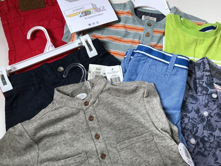 Boys shirts and shorts from Kidbox