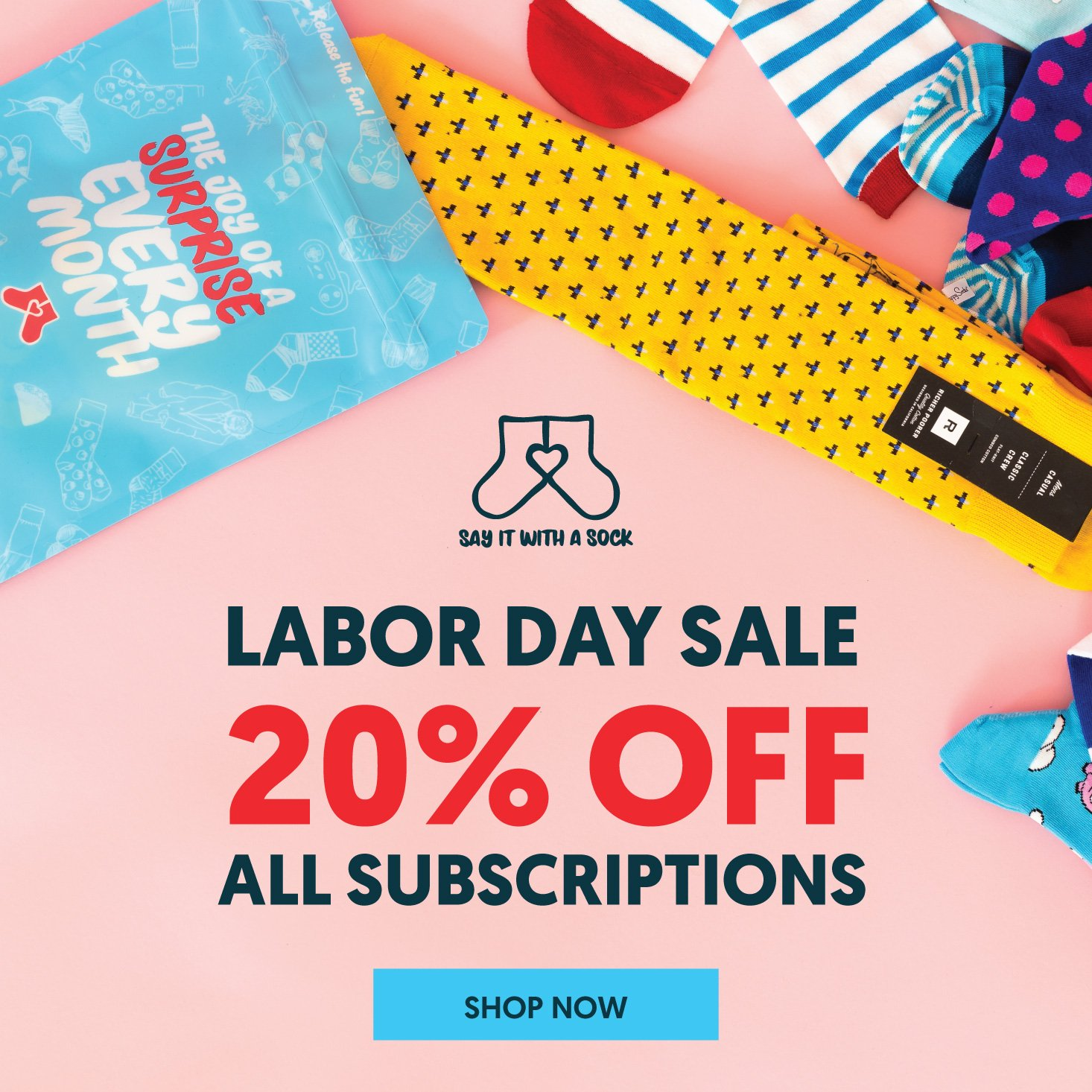 Say It With A Sock Labor Day Coupon – 20% Off Subscriptions!