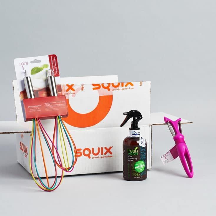 Check out the cleaning and home supplies inside the August 2017 Squix box!