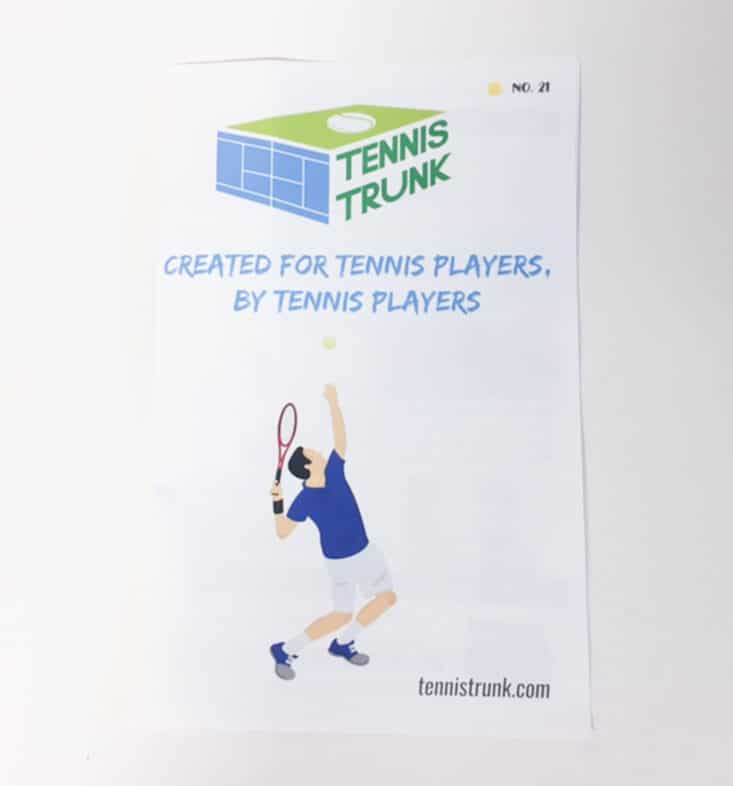 Tennis Trunk August 2017 Sports Subscription Box