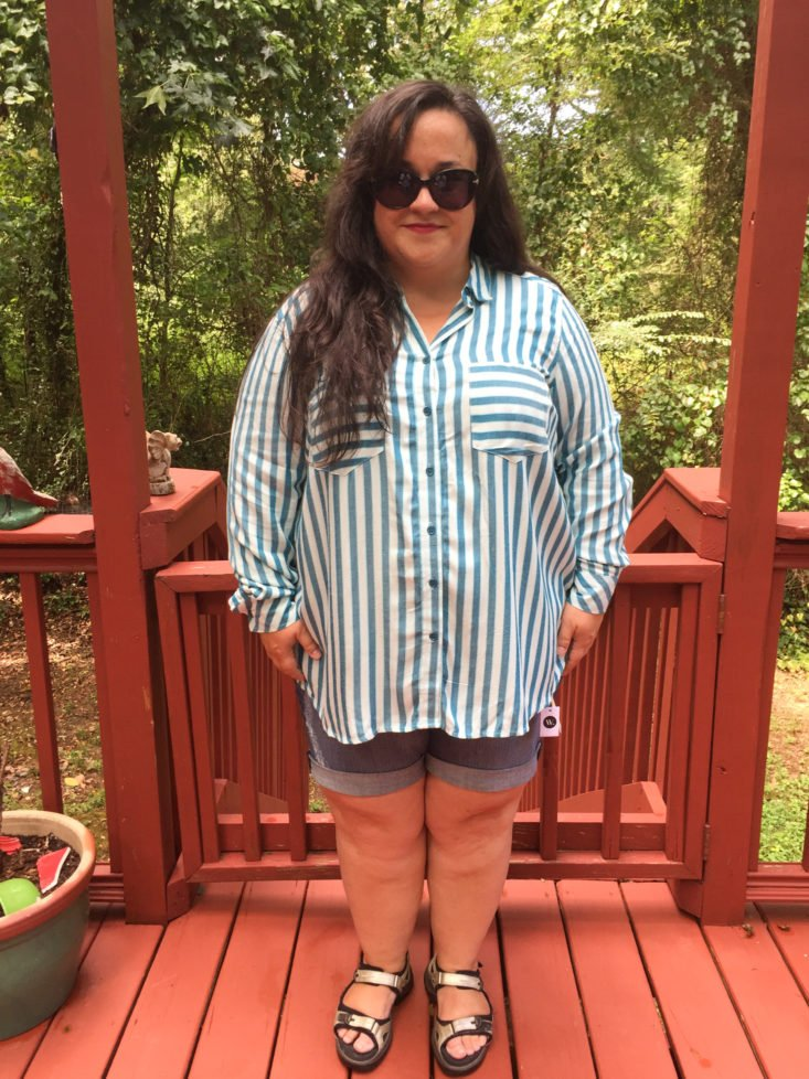 Wantable Plus Size Style Edit August 2017 Women's Clothing Subscription Box