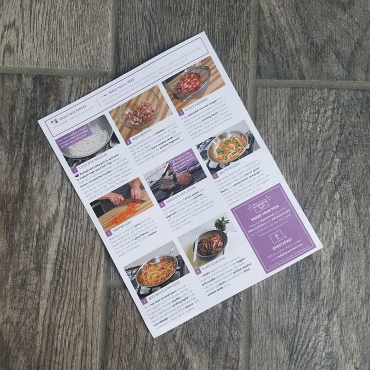 Green Chef August 2017 Meal Kit Delivery Box