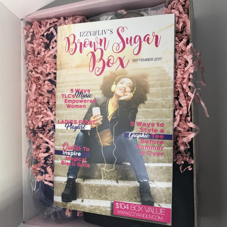 This month's Brown Sugar Box has so many fun lifestyle goodies just for women of color!