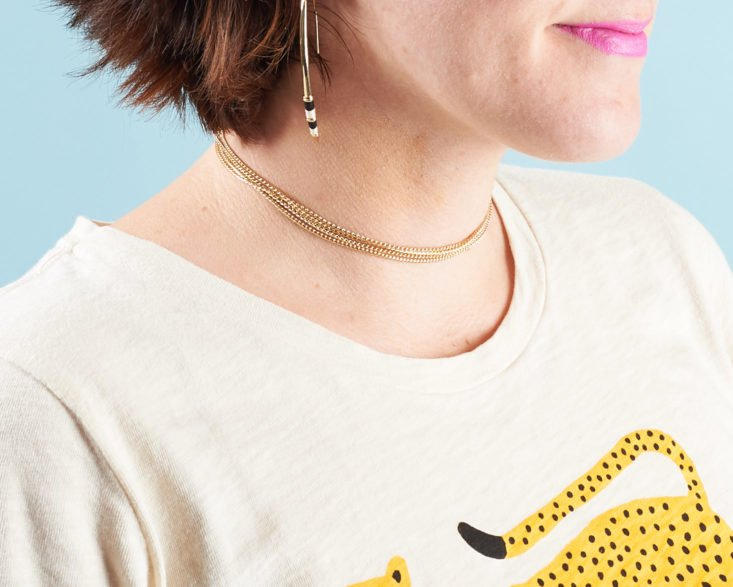 Loving the earrings, necklace, and choker in my October Rocksbox jewelry subscription order!