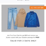 Five Four Club Coupon – FREE Jacket + First Month for $29!