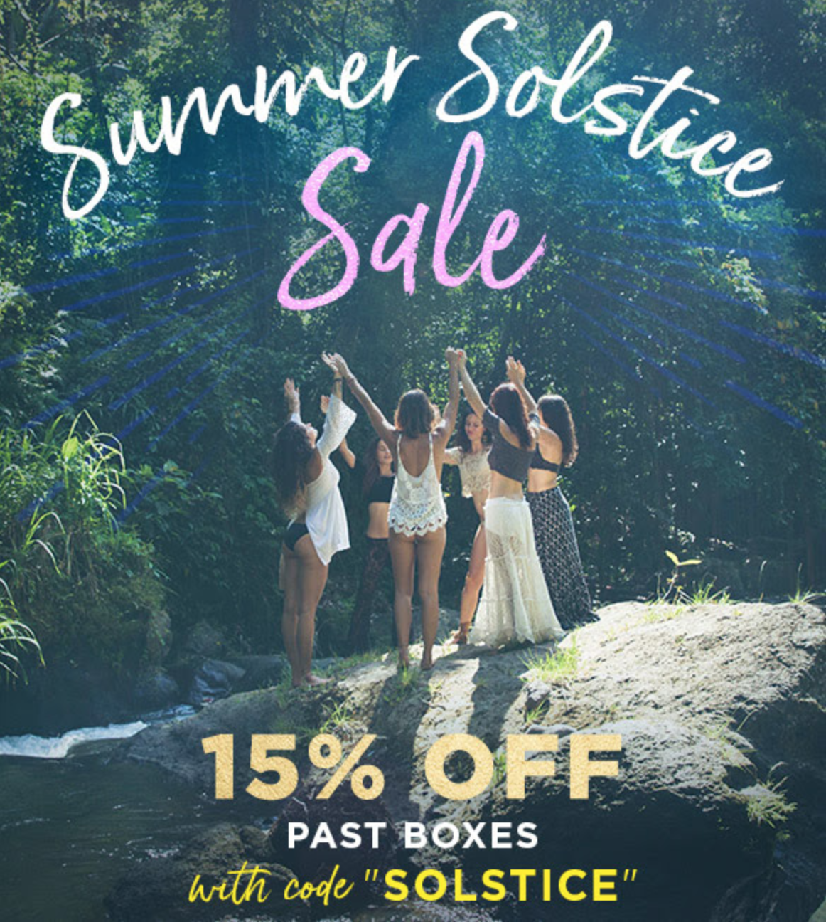 Last Day! Goddess Provisions Summer Solstice Sale – 15% Off Past Boxes!