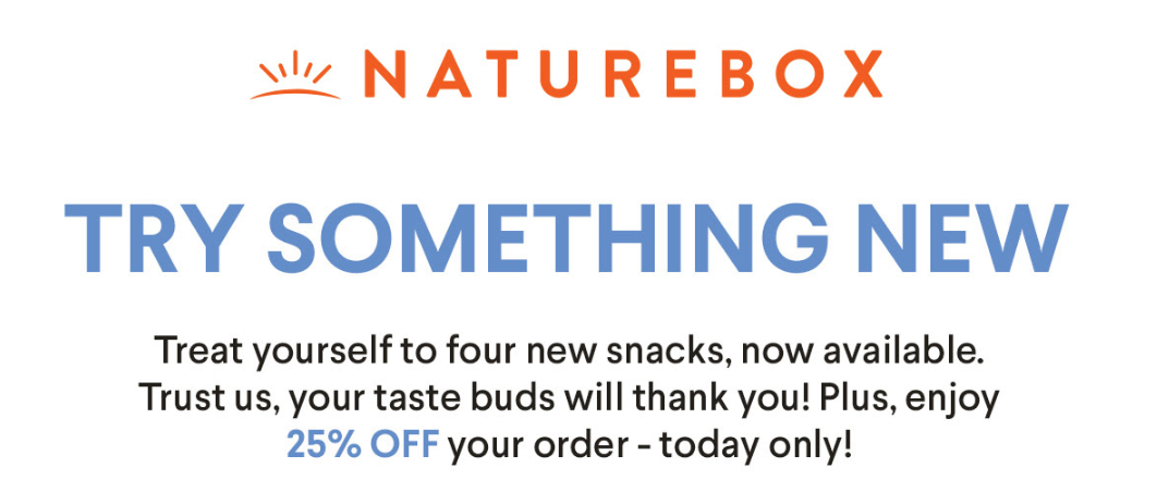 NatureBox Coupon – 25% Off Your First Order!