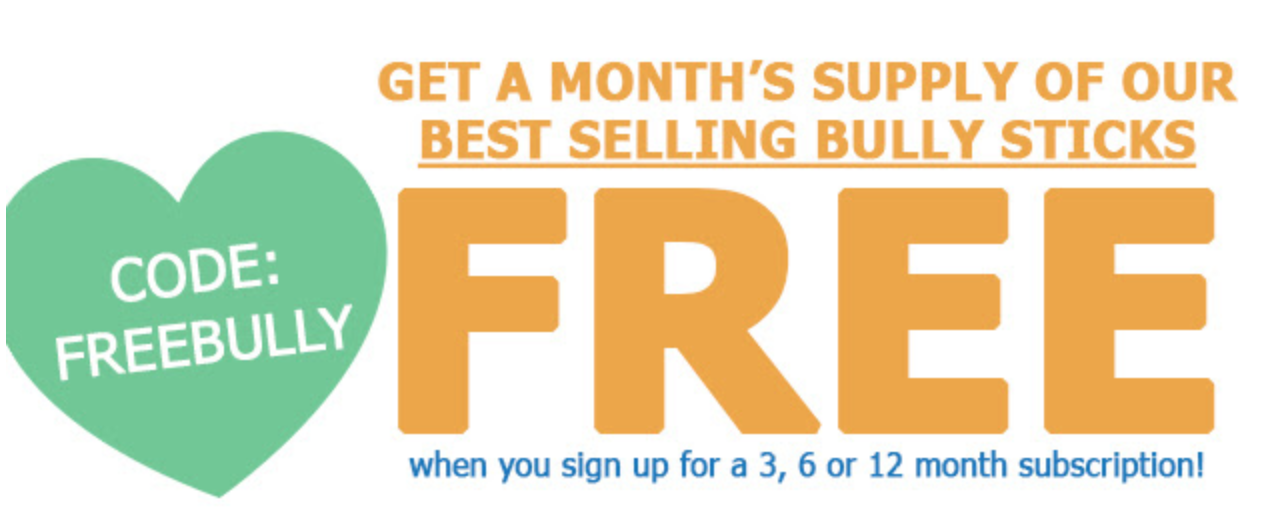 RescueBox Coupon – FREE Bully Sticks with Pre-Paid Subscription!