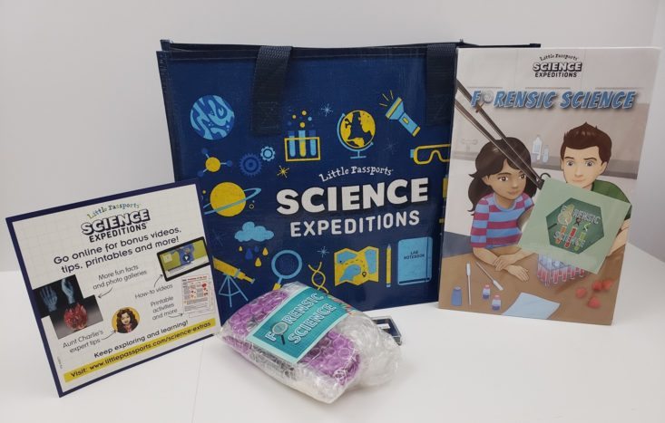 Little Passports Science Expeditions subscription featuring forensic science for kids.