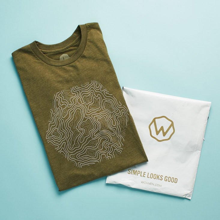 Wohven T-shirt subscription.