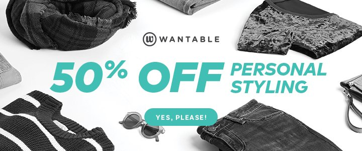 Last Day! Wantable Black Friday Deal – 50% Off Styling Fee!