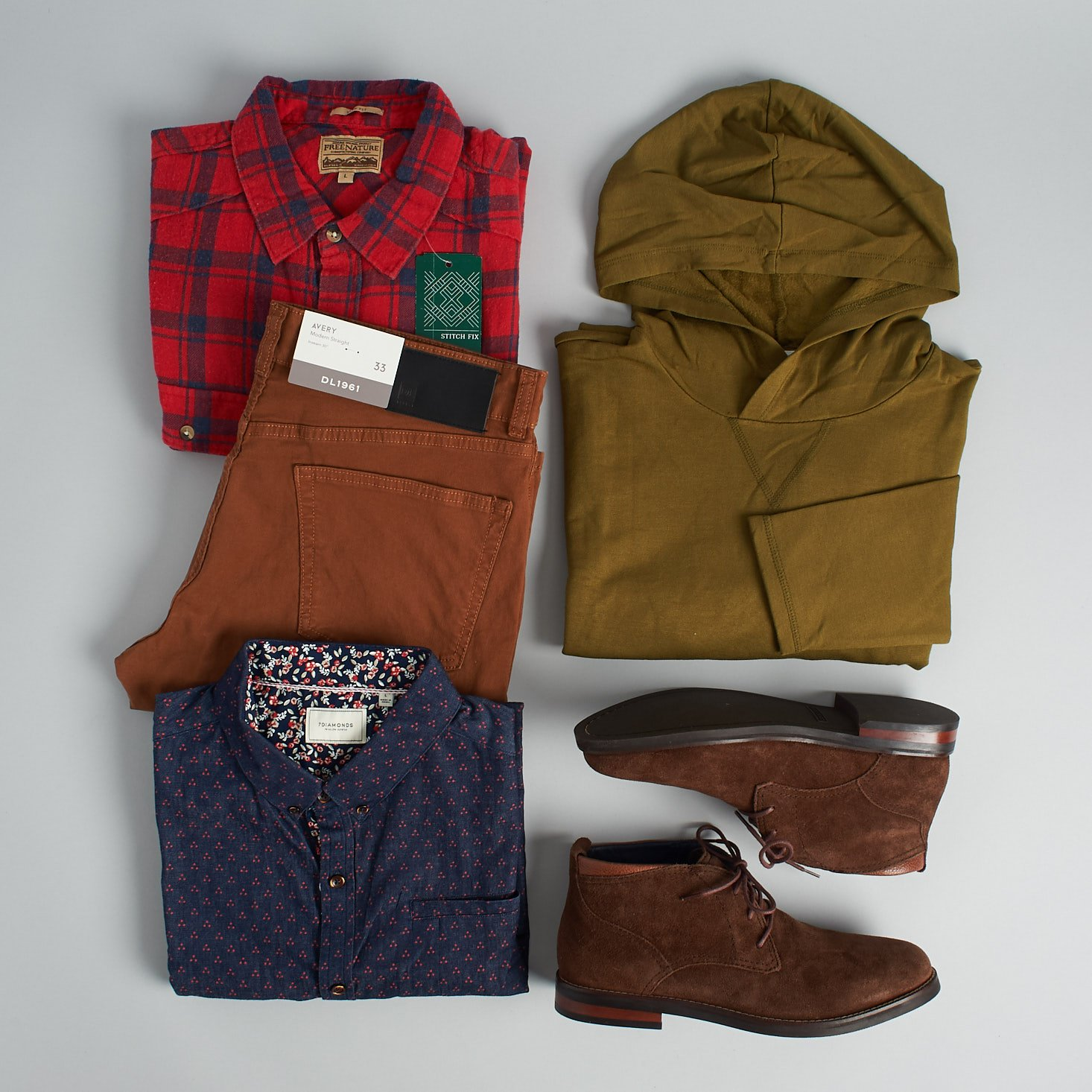 Stitch Fix Mens March 2019 - All Products Group Shot Top