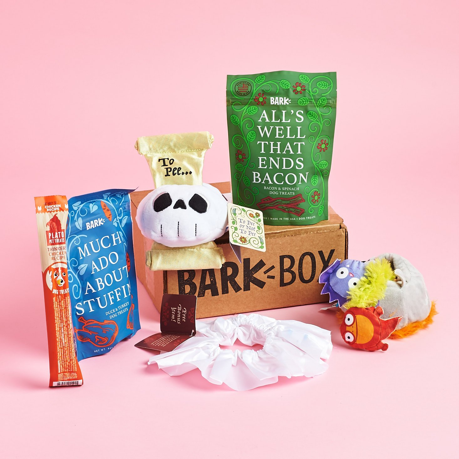 Barkbox April 2019 dog subscription review all contents