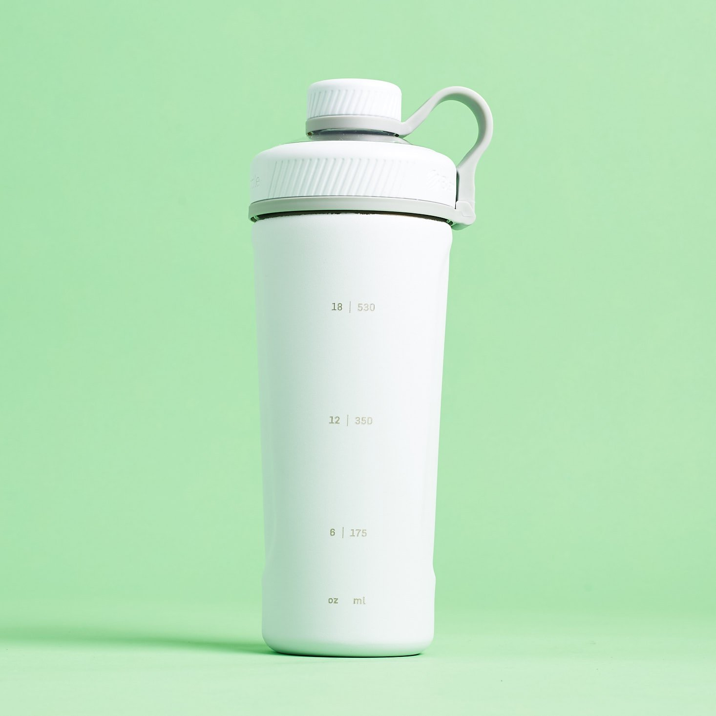 BlenderBottle Radian Insulated Stainless Steel Shaker- side with measuring markings