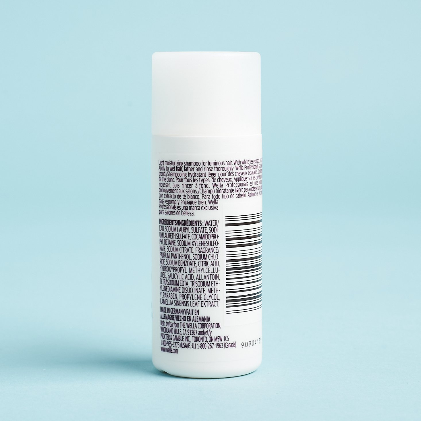 back of shampoo bottle with more info
