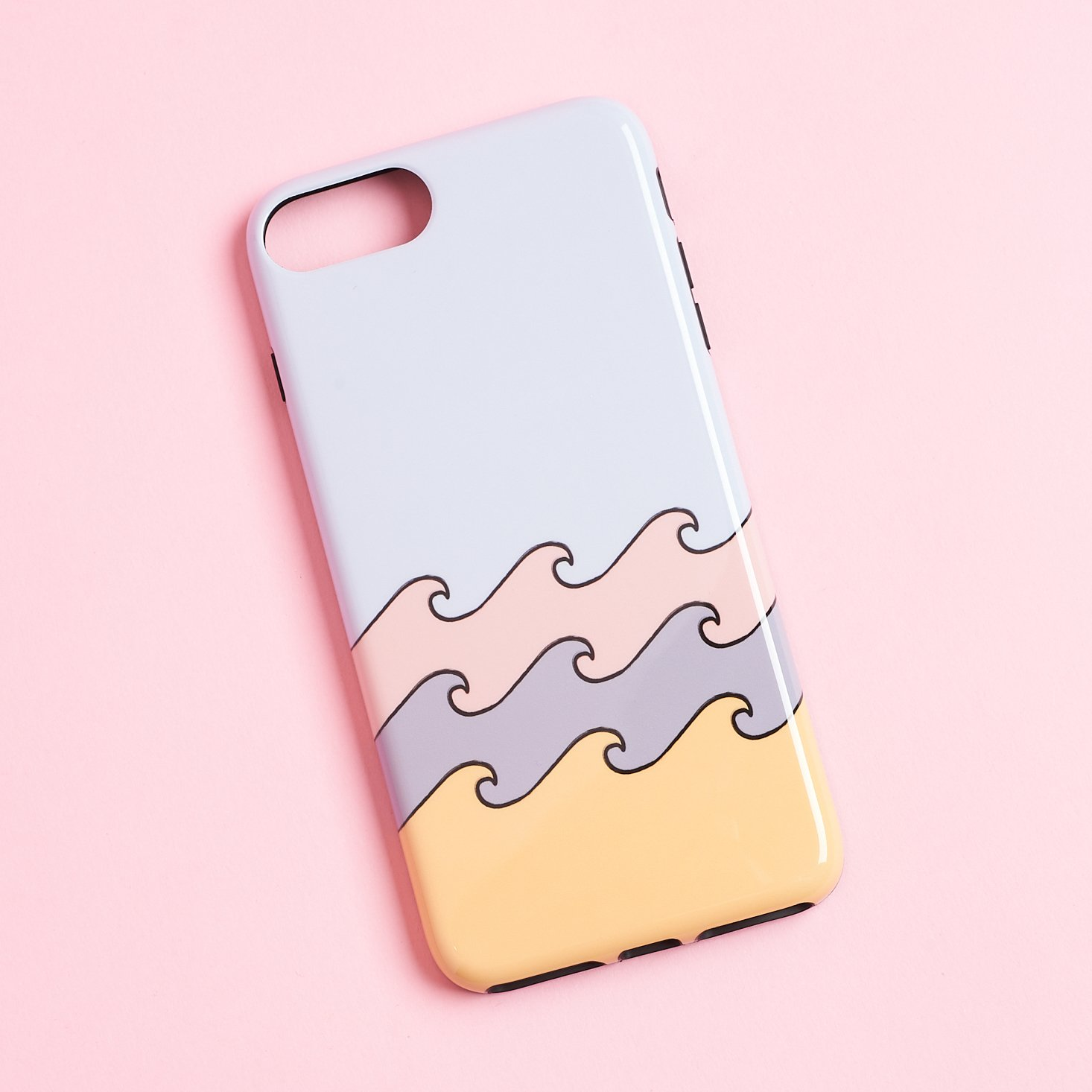 casely pastel colored wave case