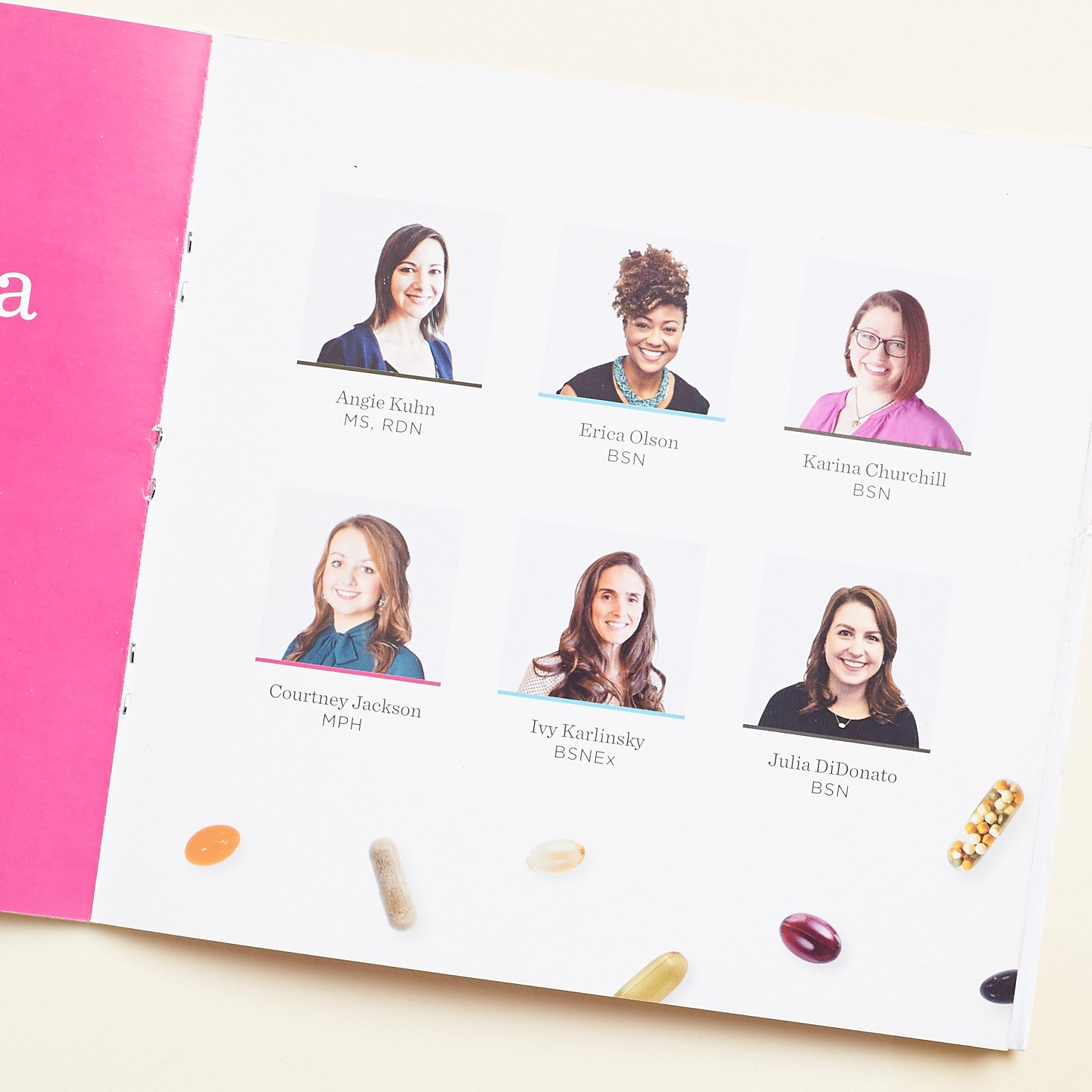 photoss and profiles for 6 nutritionists