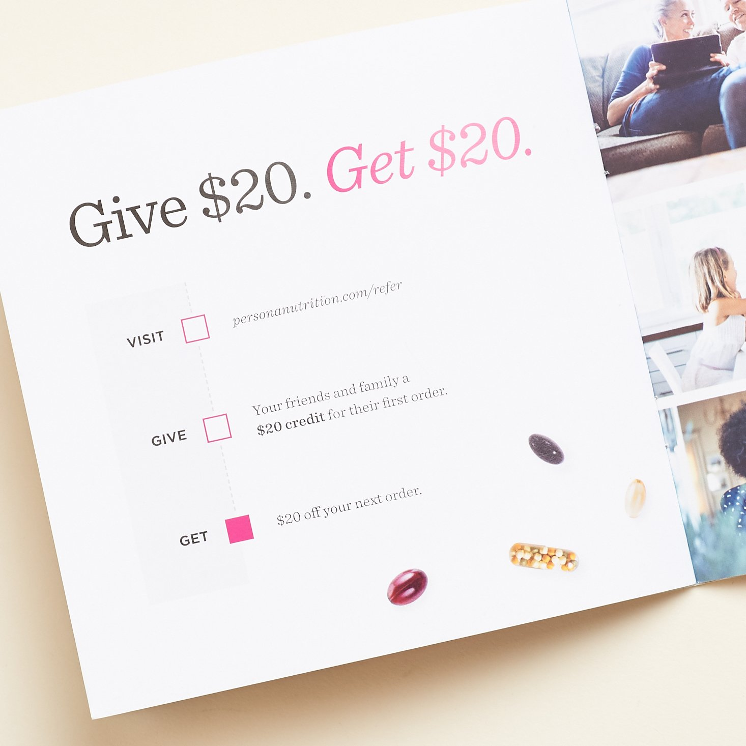 Give $20, Get $20 referral explanation