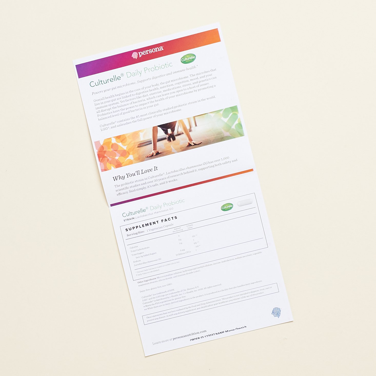 Culturelle Daily Probiotic info sheet