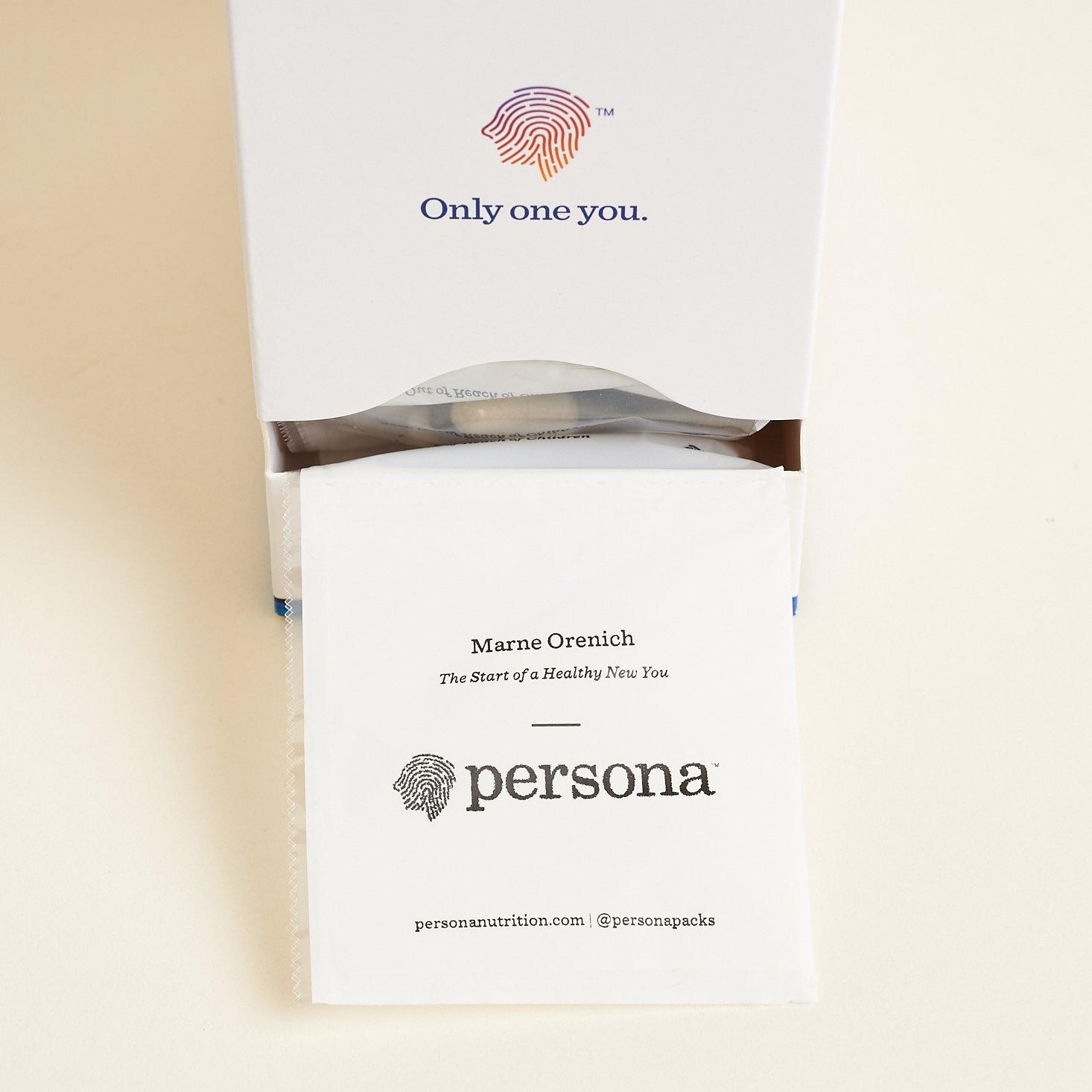 Personalized pack coming out of box