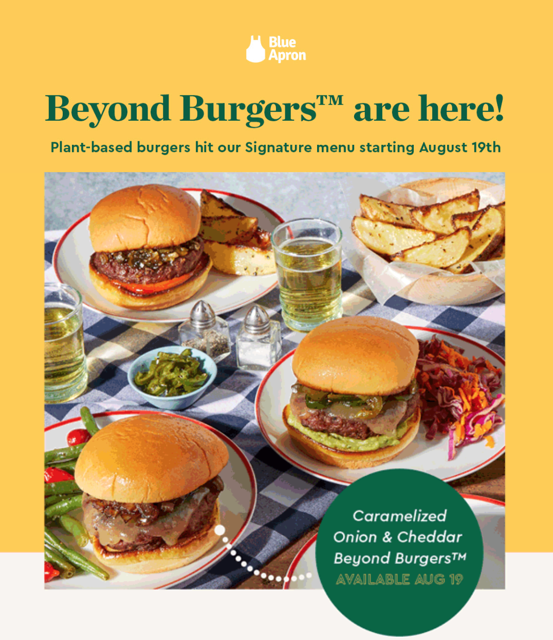 Blue Apron – Beyond Burgers Available Now + $60 Off!