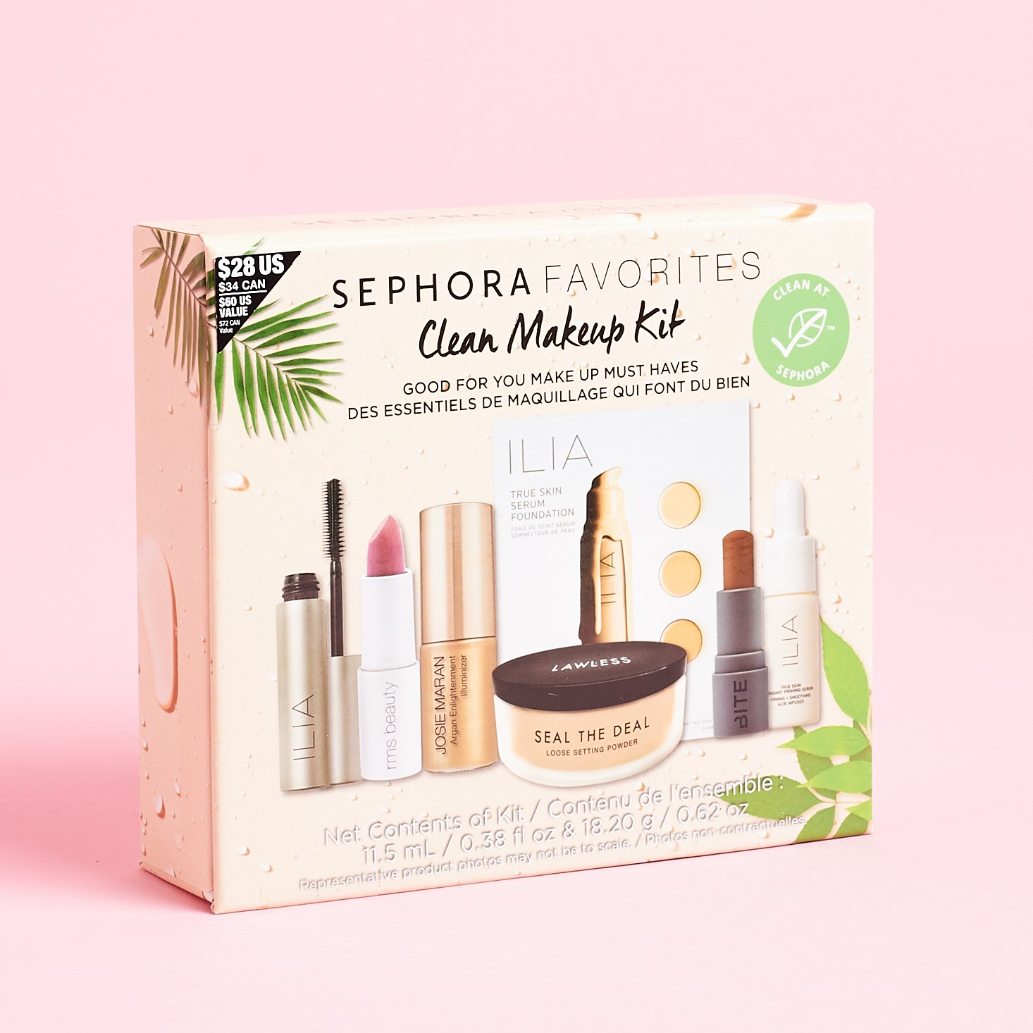 Sephora Favorites Clean Makeup Kit Review- July 2019