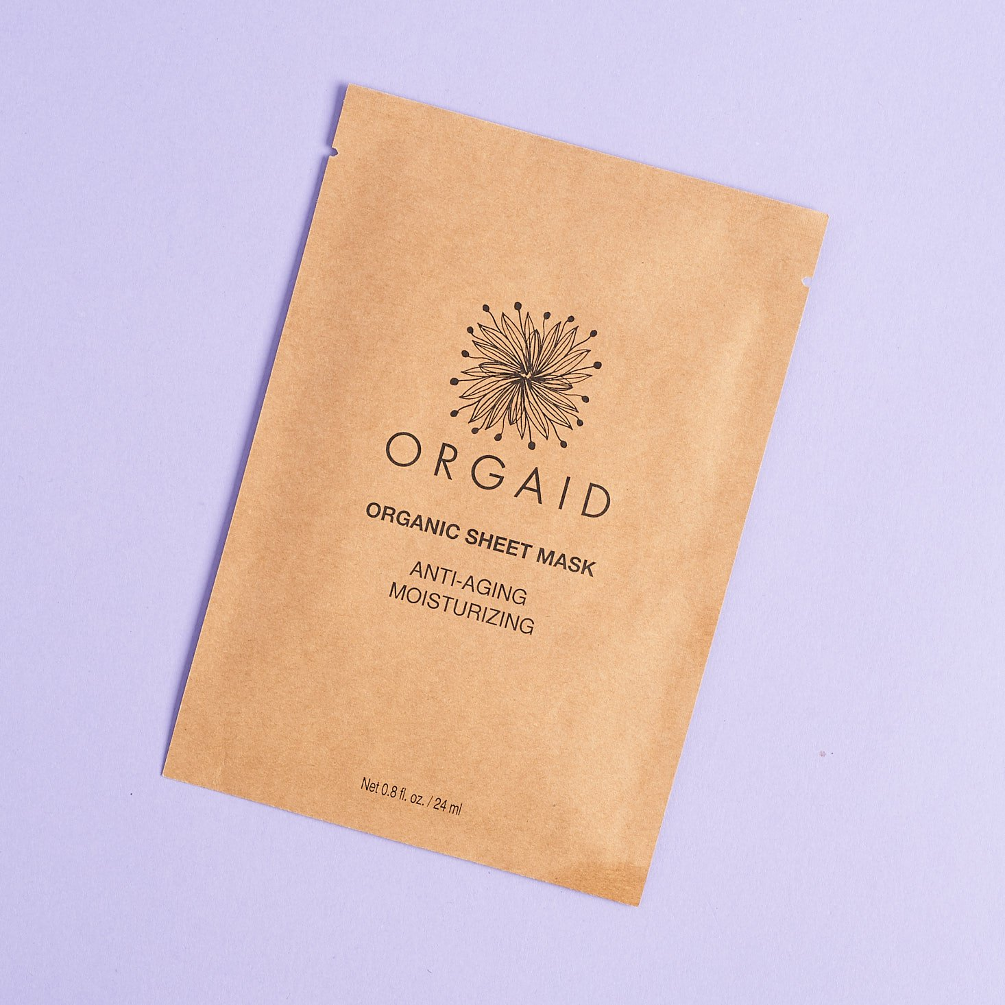 Orgaid Anti-Aging Moisturizing Organic Sheet Mask