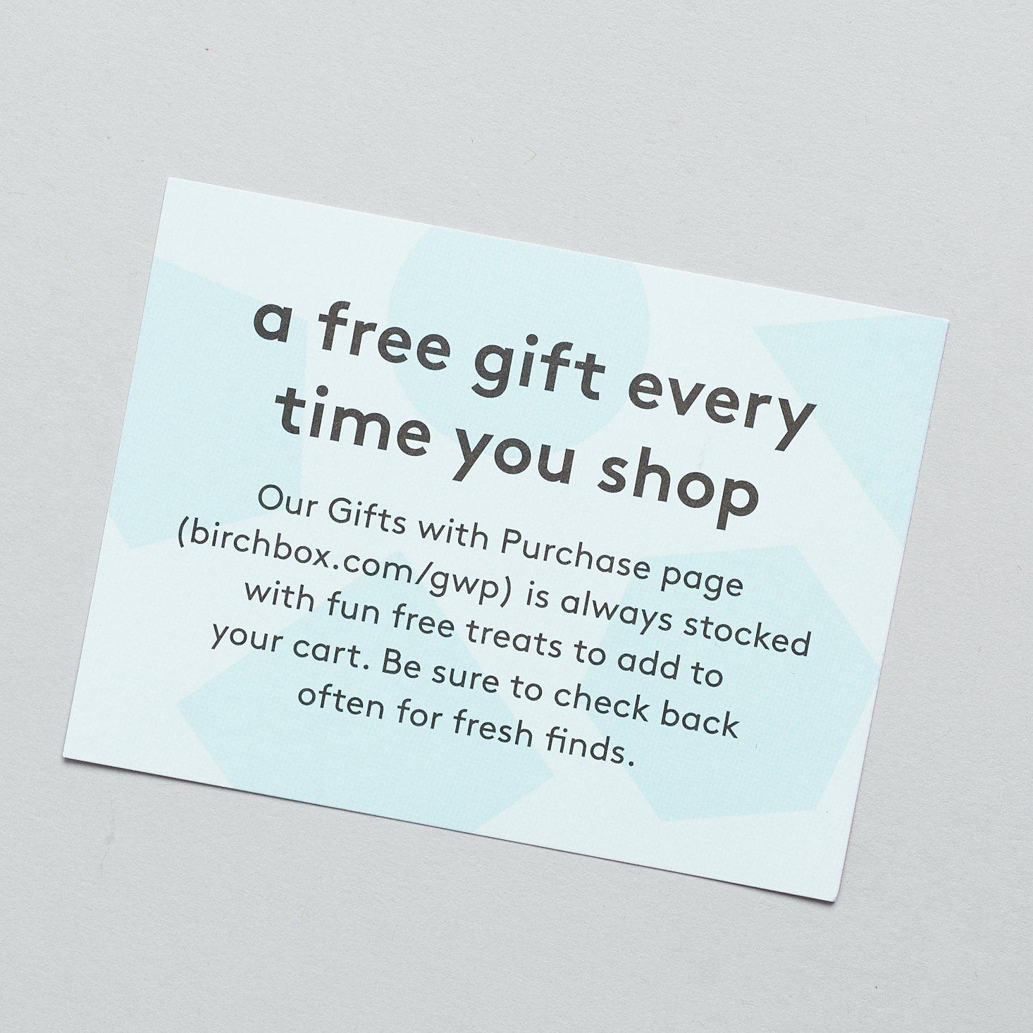 free gift promo card