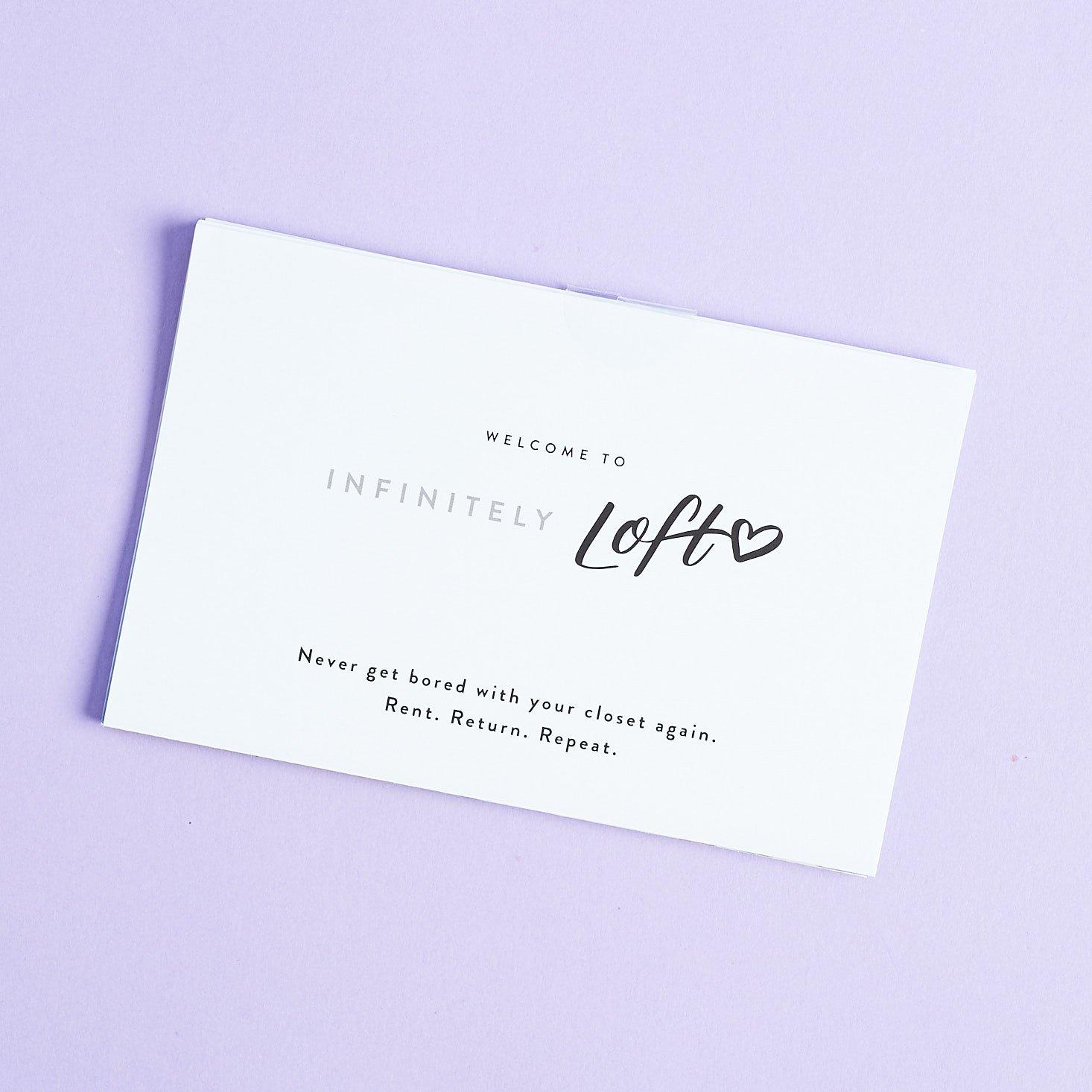 Infinitely LOFT info booklet