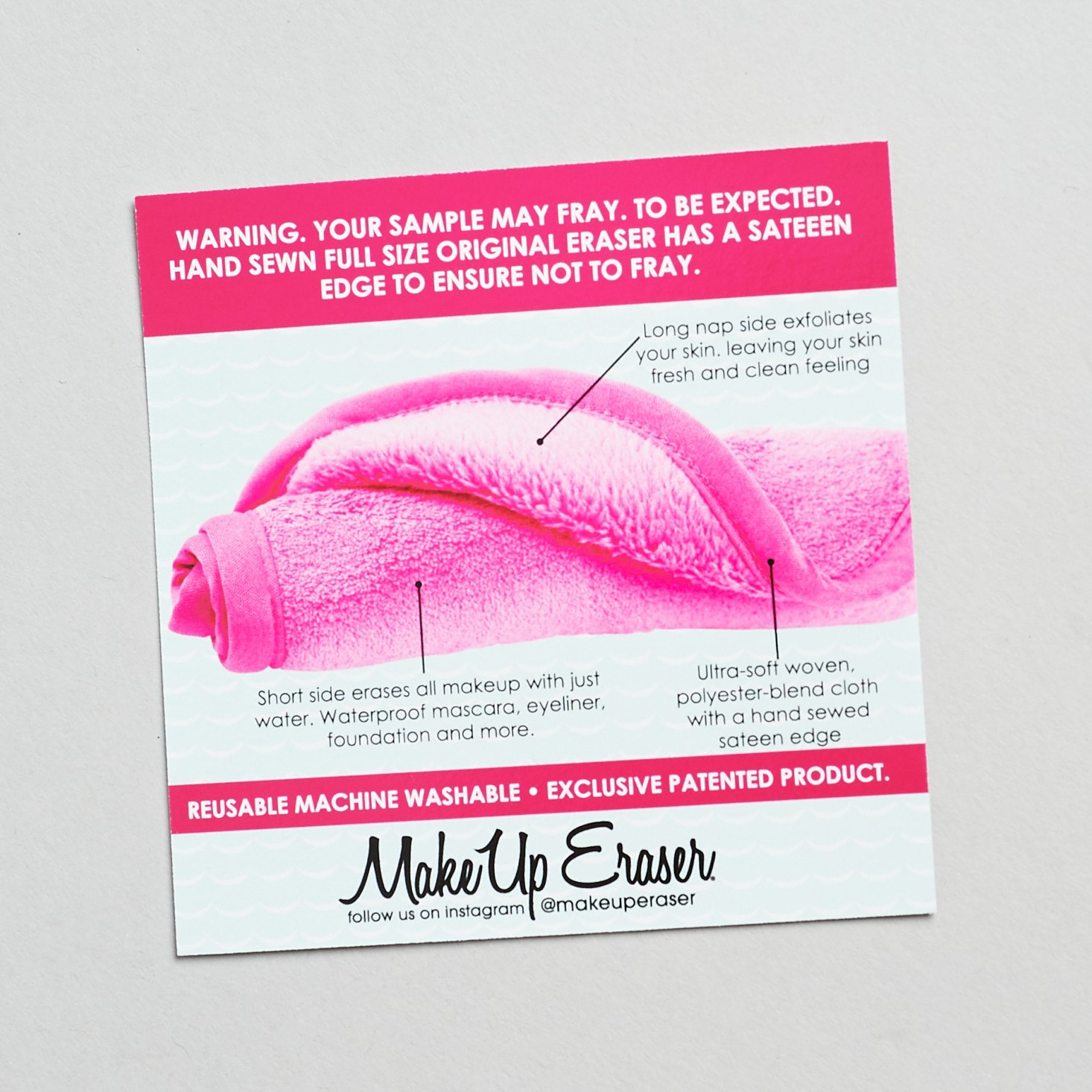 description of full size makeup eraser