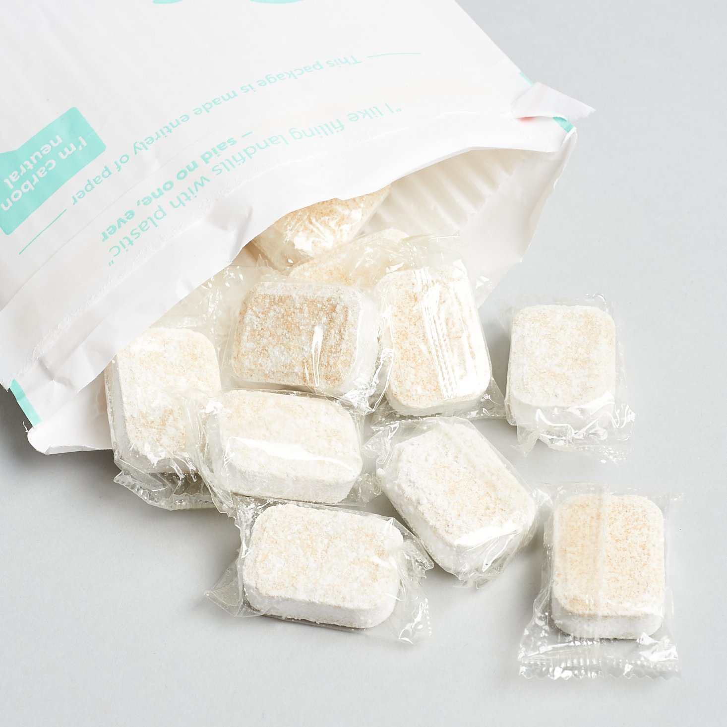 cleancult dishwasher tablet refills spilling out of bag