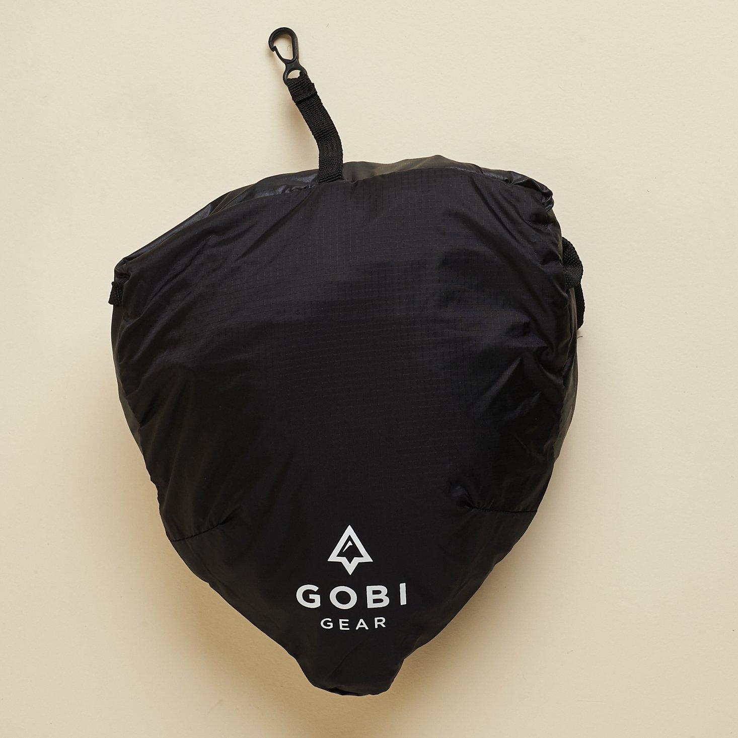 folded up Gobi Gear Free Spirit Backpack