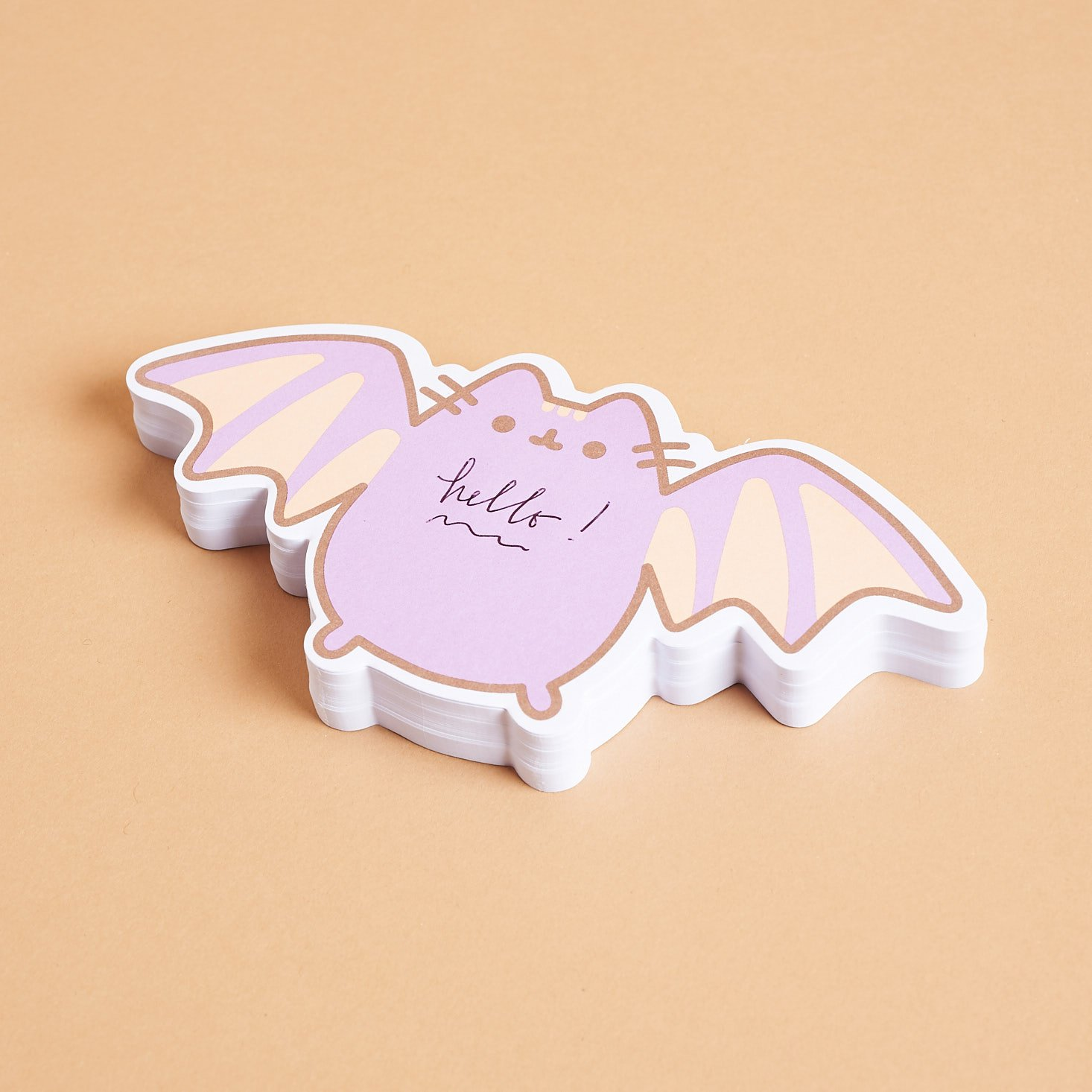 Pusheen Bat sticky notes