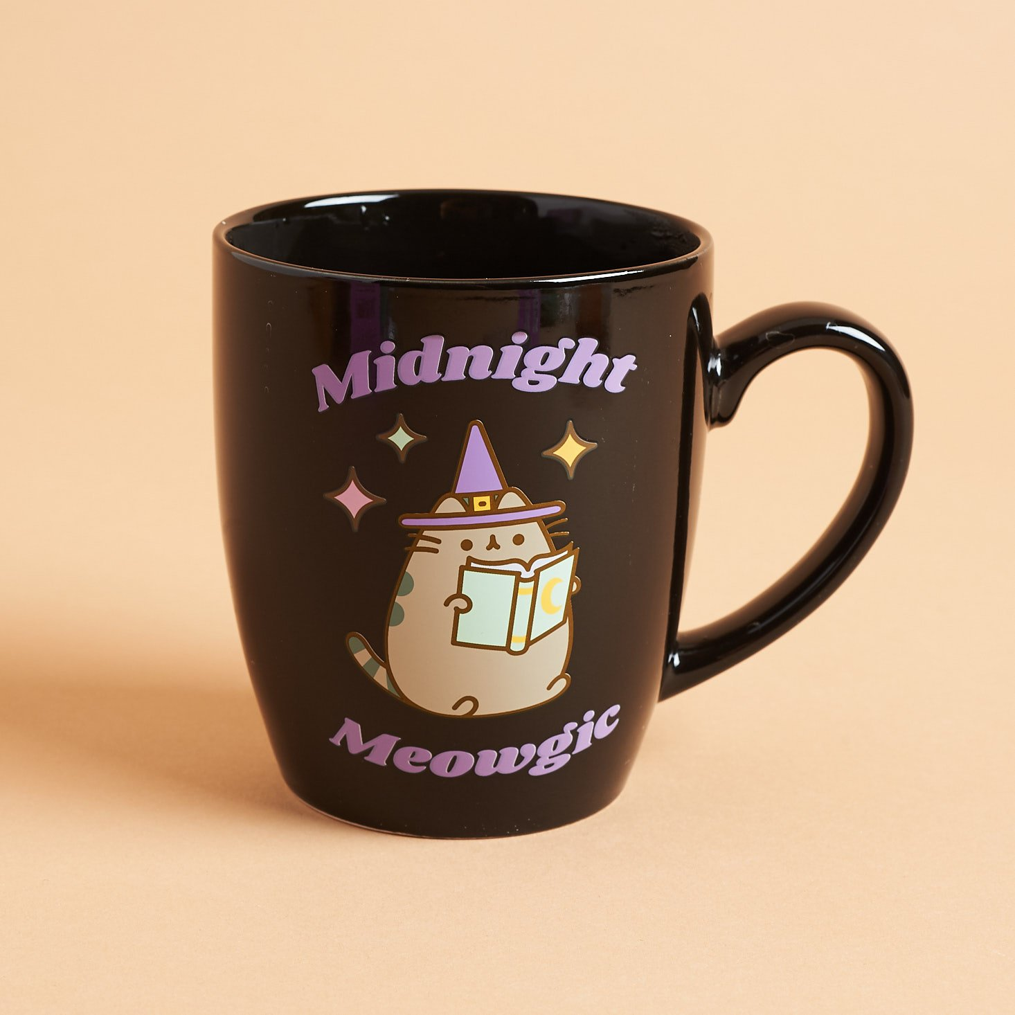 "Pusheen color changing mug with ""midnight meowgic"" now visible"