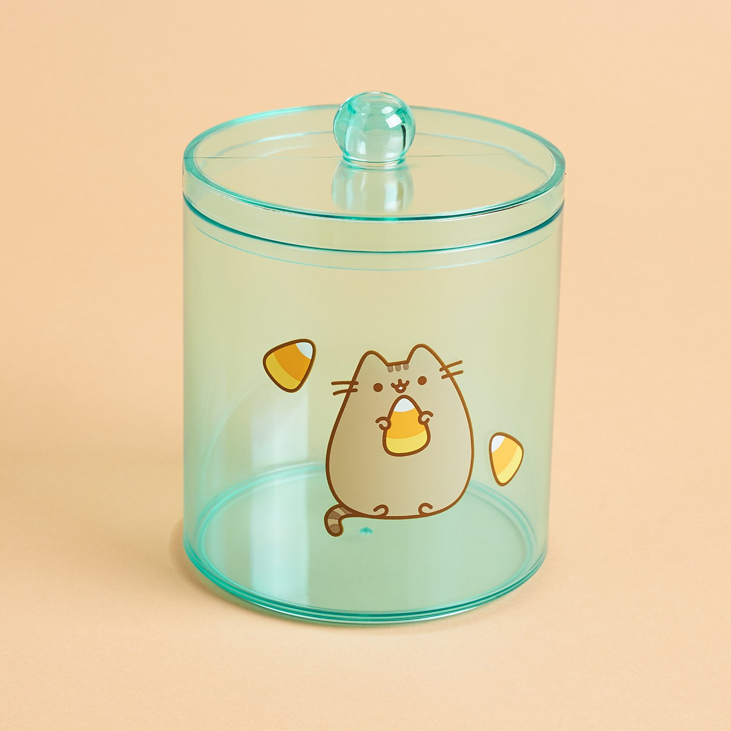 Pusheen candy corn plastic jar