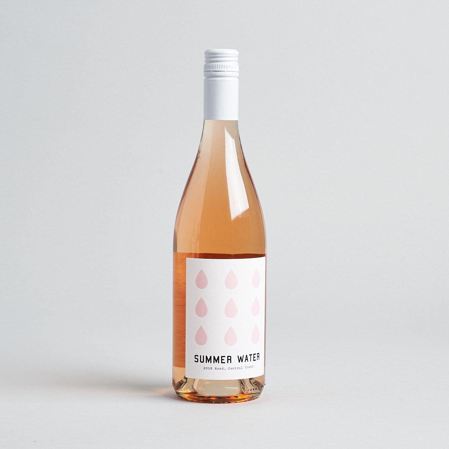 Winc September 2019 - 2018 Summer Water Rosé full bottle view