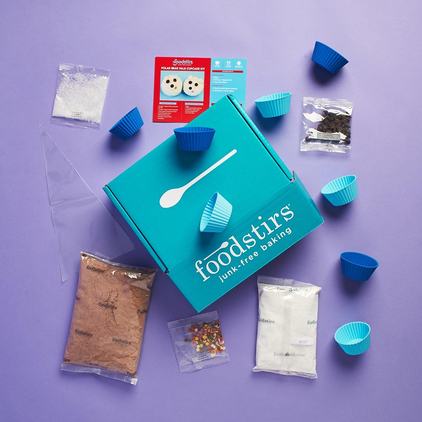 Foodstirs Baker's Club: Polar Bear Pals Cupcake Kit Review + Coupon