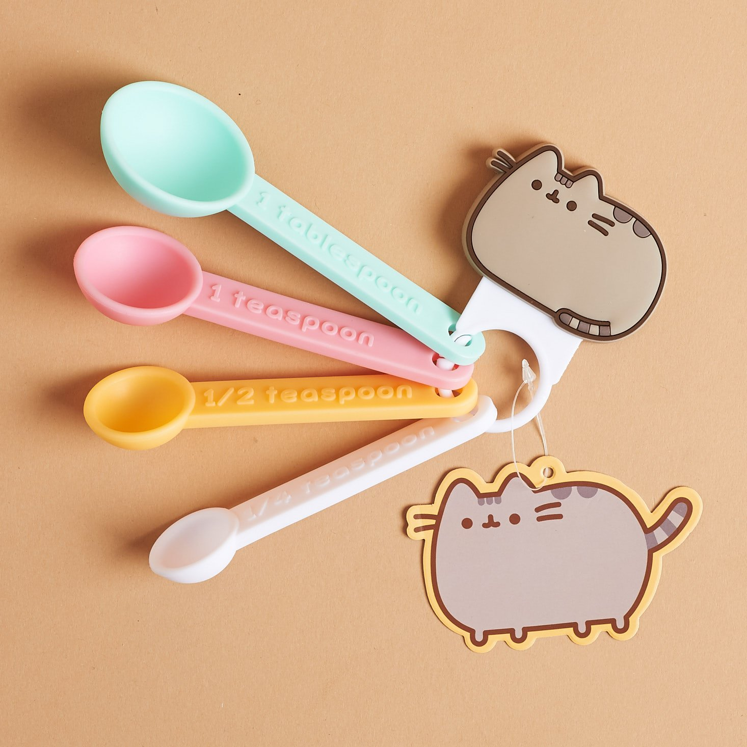 Pusheen Measuring spoon set on ring