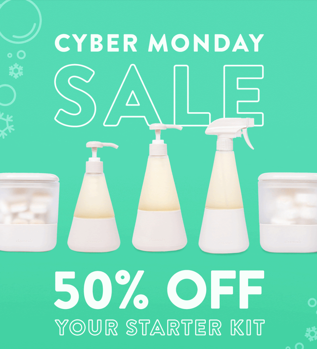 cleancult Cyber Monday Coupon – 50% Off Your First Order!