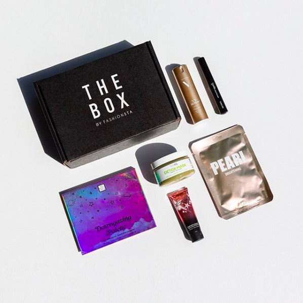 The Box by Fashionsta with makeup and skincare contents