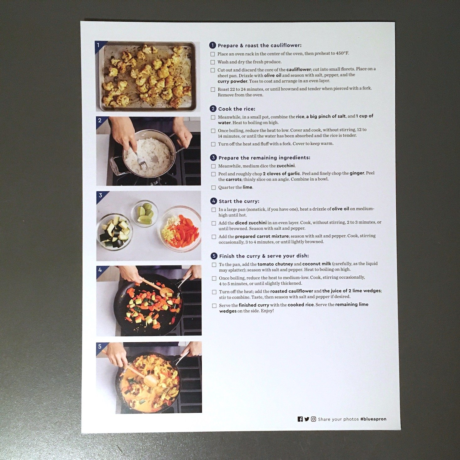 vegetable curry recipe card back