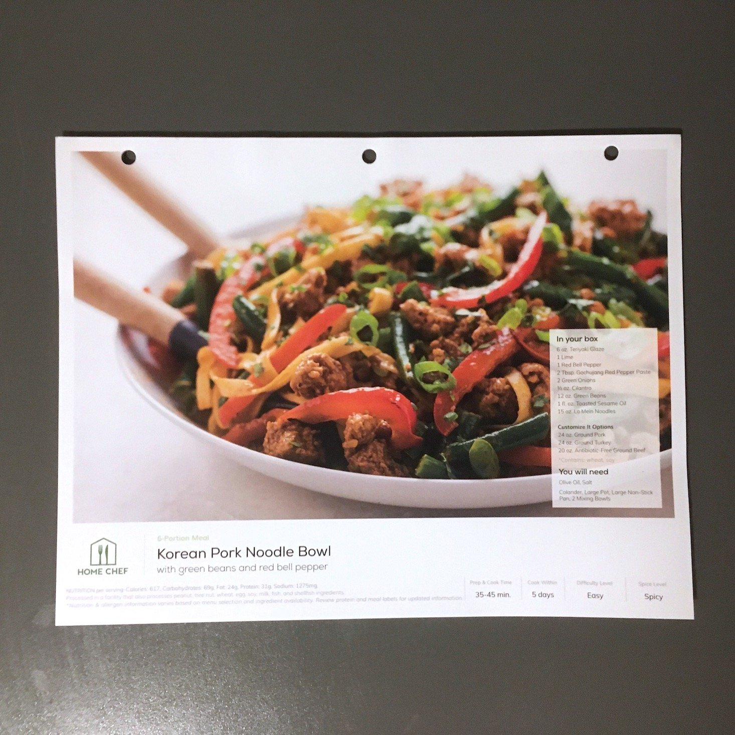 korean pork noodles recipe card front